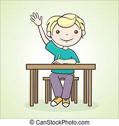 student raised his hand