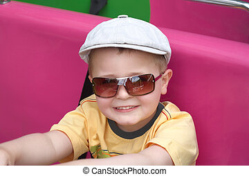 The boy in glasses