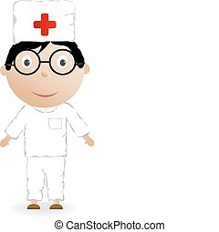 The boy in the medical form