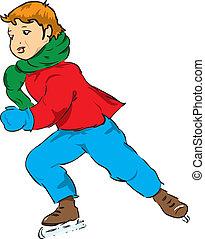 The boy on skates