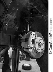 The brake system of a vehicle