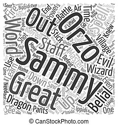 The Brand New Wizard text background wordcloud concept