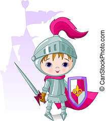 The Brave Knight - The brave knight and the castle on the...