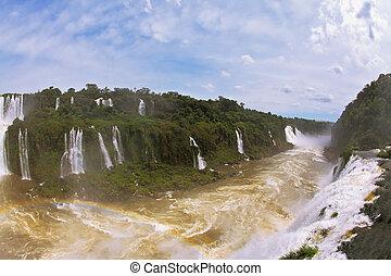 The Brazilian side of the Iguazu Falls