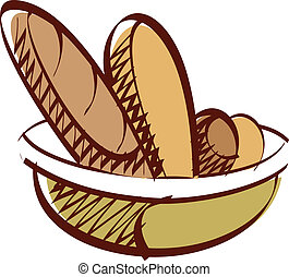 The bread in a bowl