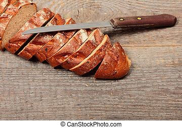 The bread with knife