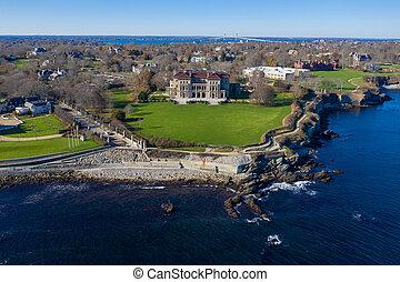 The Breakers and Cliff Walk - Newport, Rhode Island