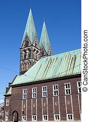The Bremen Cathedral in the city of Bremen, Germany