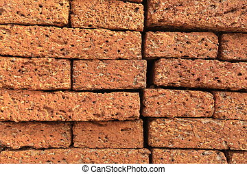 The bricks used in construction