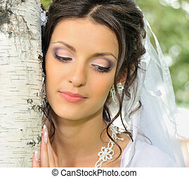 The bride and a birch