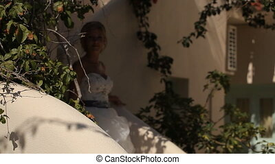 The bride leaves the house, a wedding on the island of...