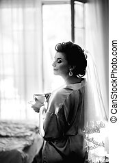 The bride's morning