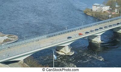 The bridge between Ivangorod and Narva. Border of Estonia...