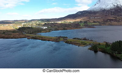 The bridge between Money Beg and Glenthornan between Dunlewey Lough and Lough Nacung Upper at the bottom of Mount Errigal - County Donegal, Ireland.