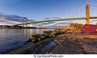 The bridge connecting Miain land to Hissingen Gothenburg ,...