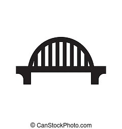 The bridge icon is black on a white isolated background. Vector image