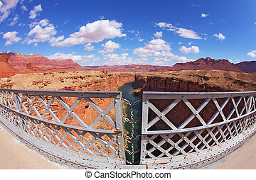 The bridge in the Navajo Reservation