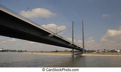 The bridge leading in Dusseldorf