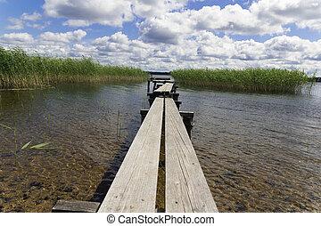 The bridge on lake.