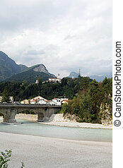 the bridge on the River Fella in Moggio