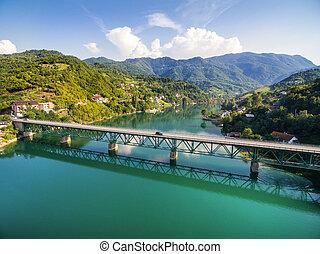 The bridge over Jablanicko lake in Bosnia and Herzegovina.