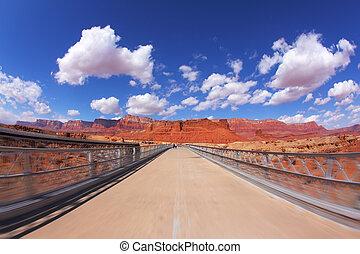 The bridge over the Colorado River