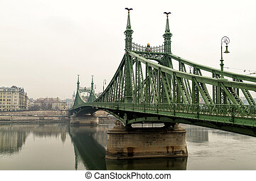 The bridge over the river Danube
