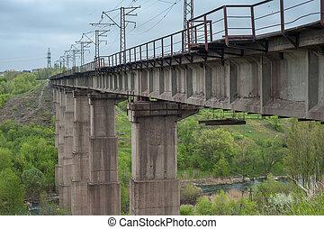 The Bridge over the River in Kriviy Rig, Ukraine