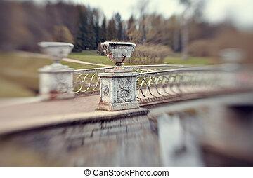 The bridge over the river Slavyanka in Pavlovsk park