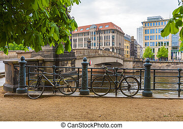 The bridge over the river Spree, Berlin, Germany