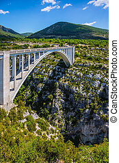 The bridge over tributary of the river Verdon Artuby