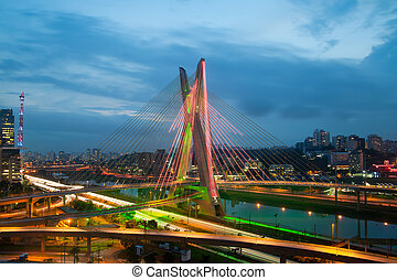 The bridge - Most famous bridge in the city of Sao Paulo,...