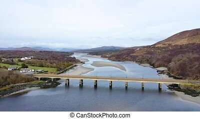 The bridge to Lettermacaward in County Donegal - Ireland.