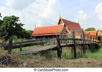 The Bridge walk way to the Temple