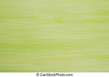 The bright painted green and white wooden textured background.