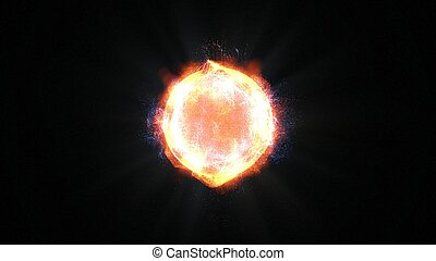 The Bright yellow sun of our solar system realistic 3D rendering and 3d illustration