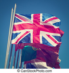 British flag - The British flag with retro effect applied.