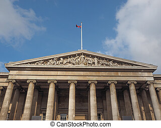 British Museum in London - The British Museum in London,...