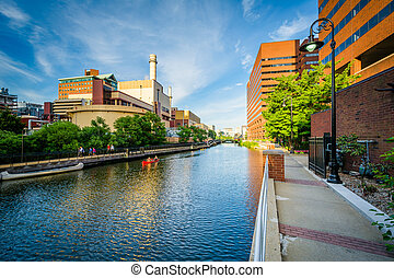 The Broad Canal in Cambridge, Massachusetts.