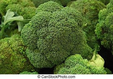 The Brocolli Patch - closeup view of fresh brocolli