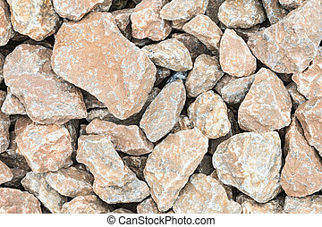 The broken stone road texture. The macro shot is made by means of stacking technology