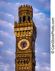 The Bromo-Seltzer Tower in downtown Baltimore, Maryland. -...