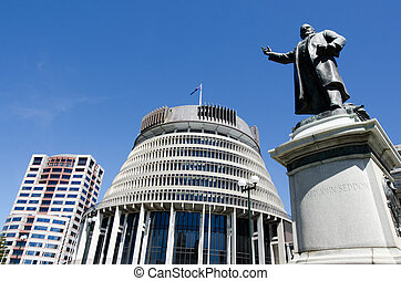 Parliament of New Zealand - The bronze statue of Richard ...