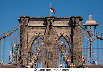 Brooklyn Bridge - The Brooklyn Bridge, built between 1869 ...
