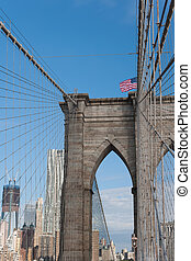 The Brooklyn Bridge in New-York