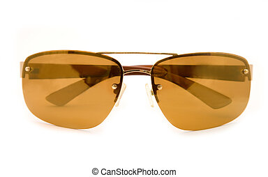 sun glasses - the brow sun glasses on white background