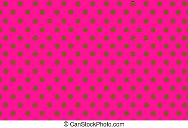 the brown polka dot with pink background