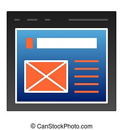 The browser flat icon. Website window color icons in trendy flat style. Web page gradient style design, designed for web and app. Eps 10.