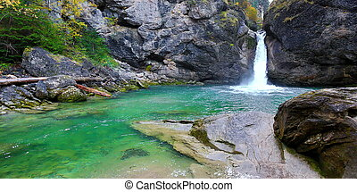 The Buchenegger waterfalls in Bavaria in the Allg?u