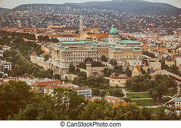 The Buda Castle of Budapest, Hungary